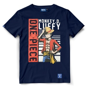 DOP-803-NV-XL T-Shirt One Piece Luffy สีกรม 1