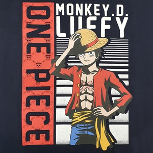 DOP-803-NV-XL T-Shirt One Piece Luffy สีกรม 2