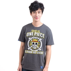 DOP-806-GY-L T-Shirt One Piece Icon Luffy สีเทา