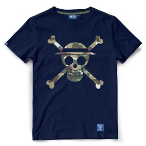 DOP-903-NV-S Tees OP Military Icon Luffy กรม 0