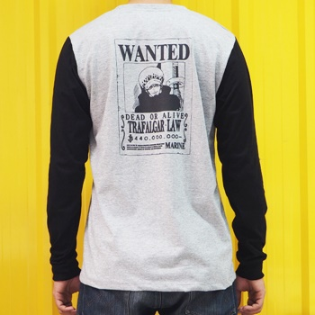 DOP-513-GB-XL L-Sleeve OP Wanted Law เทาแขนดำ 0