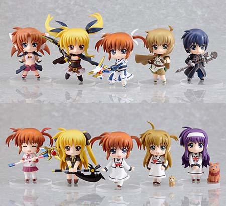 Hot-Hit Japanese Figure : Good Smile : Nendoroid Petite: Magical Girl Lyrical Nanoha The MOVIE 1st 12 Pieces (PVC Figure) 1